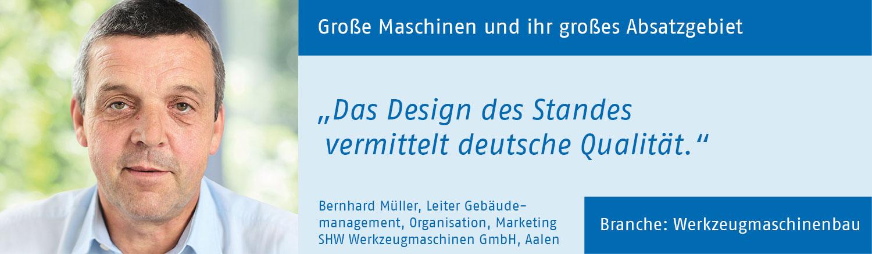 Bernhard Mueller, SHW Werkzeugmaschinen GmbH