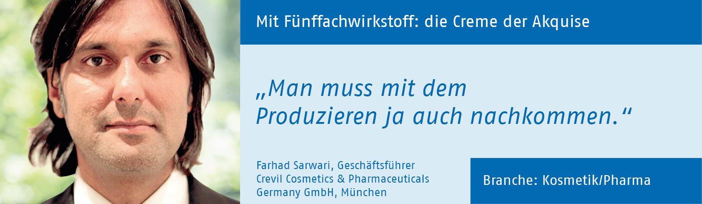 Farhad Sarwari, Crevil GmbH