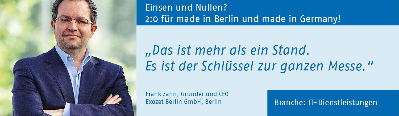Frank Zahn, Exozet Berlin Berlin