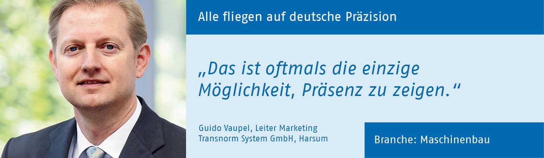 Guido Vaupel, Transnorm System GmbH