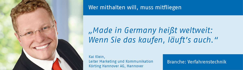 Kai Klein, Körting Hannover AG