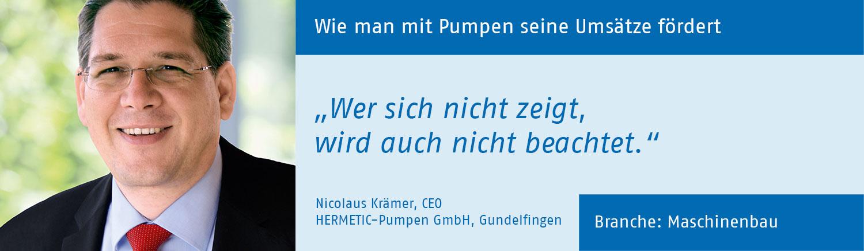Nicolaus Kraemer, HERMETIC-Pumpen GmbH