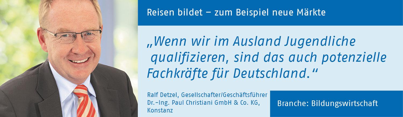 Ralf Detzel, Dr.-Ing. Paul Christiani GmbH